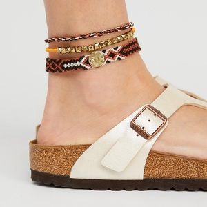 Free People Austin Anklet Set Woven NWT